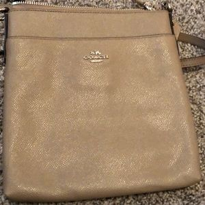Coach leather Cross body purse Tan